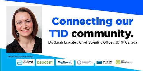 JDRF Diabetes Research Presentation featuring Dr. Sarah Linklater tickets
