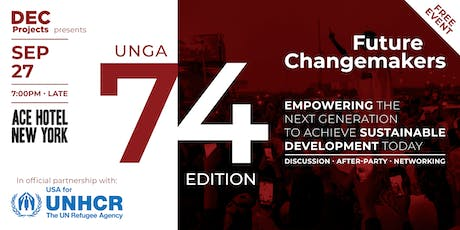 USA for UNHCR presents Future Changemakers - UNGA74 tickets