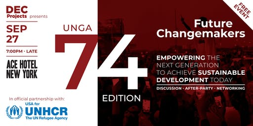 USA for UNHCR presents Future Changemakers - UNGA74