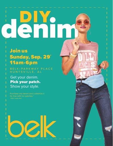 DIY Denim Experience: Belk, Parkway Place