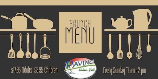 Sunday Brunch at Pavinci Italian Grill!