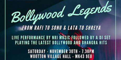 Bollywood Legends - from RAFI to SONU & LATA to SHREYA - Dinner and Dance tickets