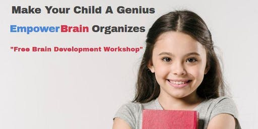 Free Brain Development Workshop For Kids Of Age 5 To 13 Years