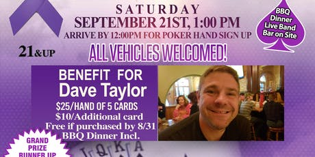 Poker Run #DaveTaylorStrong tickets