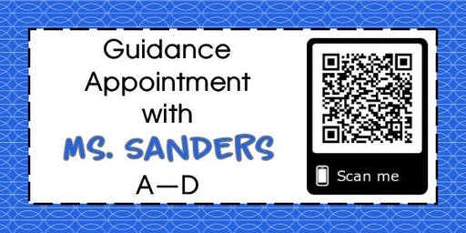 Guidance Appointments for Mrs. Sanders