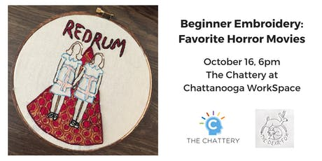 Beginner Embroidery: Favorite Horror Movie tickets