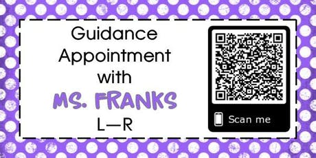 Guidance Appointment for Mrs. Franks tickets