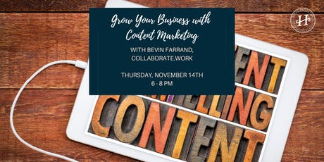 Grow Your Business with Content Marketing tickets