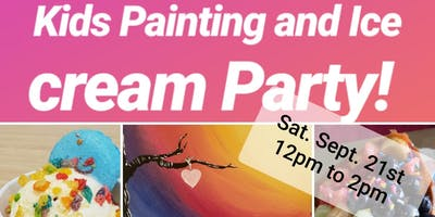 Paint and ice cream party!