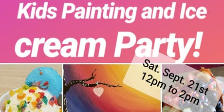 Paint and ice cream party! tickets