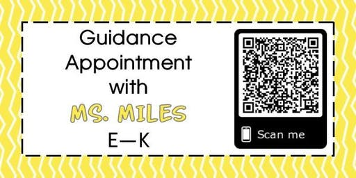 Guidance Appointments for Mrs. Miles