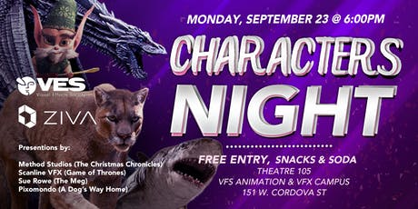 Characters Night @ VFS tickets