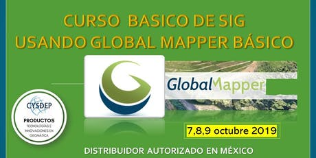 CURSO DE SIG USANDO GLOBAL MAPPER BÁSICO (3 dias) tickets