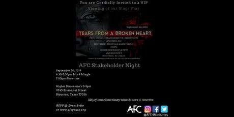 Tears From A Broken Heart Stage  Play-Stakeholder Night tickets