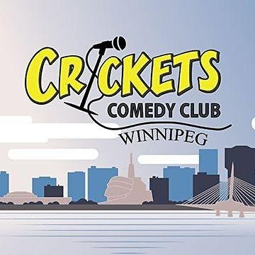 Crickets  Comedy Club Winnipeg logo