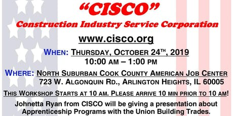 Union Apprenticeship Information Session with CISCO tickets