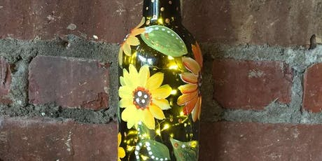 Fall Wine Bottle with Lights tickets