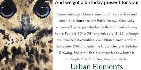 Urban Elements Birthday Drawing tickets