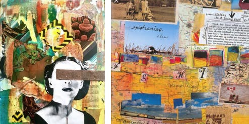 STORYTELLING THROUGH COLLAGE AND PAINTING