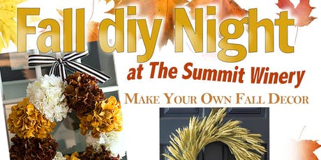DIY Fall Craft Night at The Summit Winery tickets
