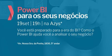 Power BI para os seus negócios ingressos