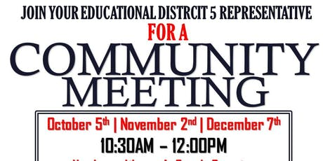 District 5 Community Meeting-October tickets