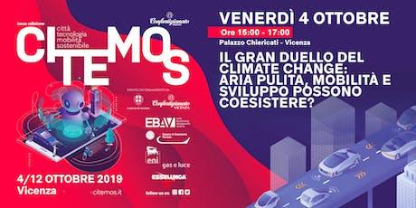 CITEMOS 2019 - Il gran duello del climate change: aria pulita, mobilità e sviluppo possono coesistere? biglietti