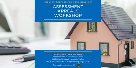 Assessment Appeals Workshop with Supervisor Andrew Do tickets