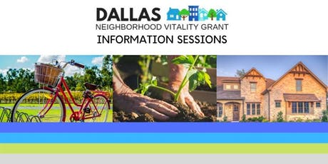 Dallas Neighborhood Vitality Grant Information Sessions tickets