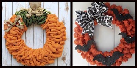 Fall/Halloween Burlap Wreath tickets