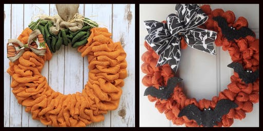 Fall/Halloween Burlap Wreath