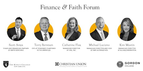 Finance and Faith Forum tickets
