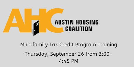 Multifamily Tax Credit Program (4 percent) Training tickets