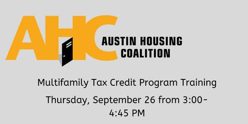 Multifamily Tax Credit Program (4 percent) Training
