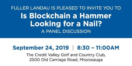 Is Blockchain a Hammer Looking for a Nail? tickets