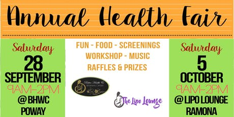 The Lipo Lounge FREE Annual Health Fair & Open House Ramona tickets