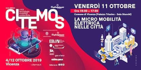 CITEMOS 2019 - La città a due ruote: la micromobilità elettrica nelle città italiane biglietti