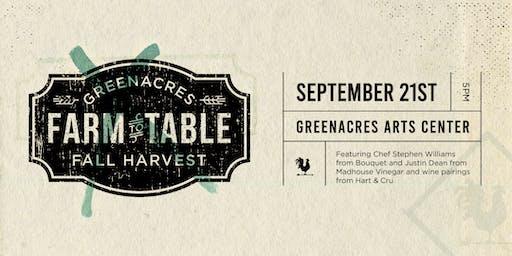 Greenacres Fall Harvest: Farm to Table Dinner & Wine Tasting