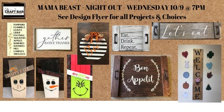 *PRIVATE EVENT - INVITE ONLY*  MAMA BEAST NIGHT OUT at THE CRAFT BAR! tickets