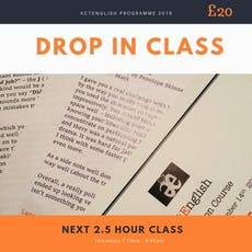 actEnglish drama and language drop in class. tickets