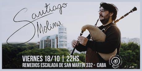 Santiago Molina presenta HISTORIAS en Oceanario Centro Cultural tickets