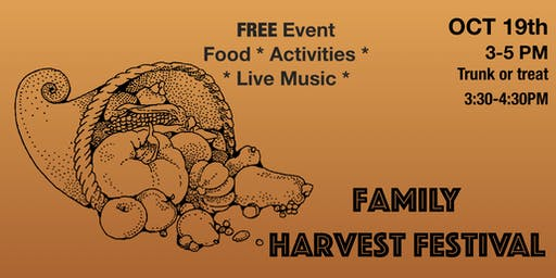 Free Family Harvest Festival (Trunk or Treat)