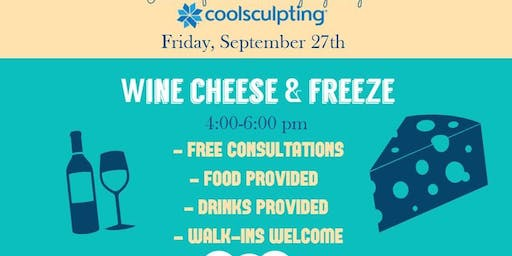 Wine, Cheese & Freeze!  CoolSculpting Happy Hour at New Leaf Esthetics