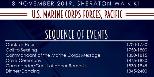 2019 MARFORPAC USMC Birthday Ball