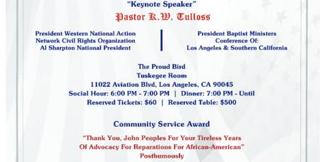 "NATIONAL ASSOCIATION OF EQUAL JUSTICE IN AMERICA (NAEJA)18TH ANNUAL BANQUET - ""JUSTICE IN AMERICA""A GAL tickets"