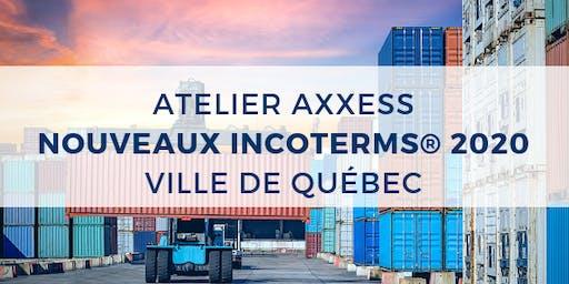 ATELIER : Nouveaux Incoterms® 2020 - Ville de Québec