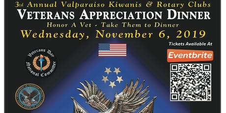 3rd Annual Valparaiso Kiwanis & Rotary Clubs Veterans Appreciation Dinner tickets