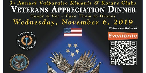 3rd Annual Valparaiso Kiwanis & Rotary Clubs Veterans Appreciation Dinner