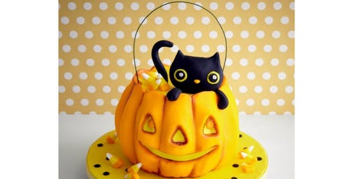 Cat in Pumpkin Adult Cake decorating class