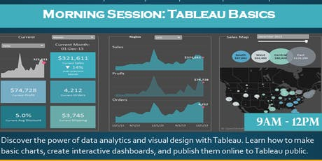 Tableau basics - morning session tickets